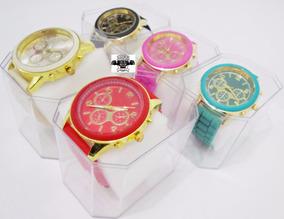 Kit C/ 5 Relógios Femininos Silicone + Caixinhas Atacado