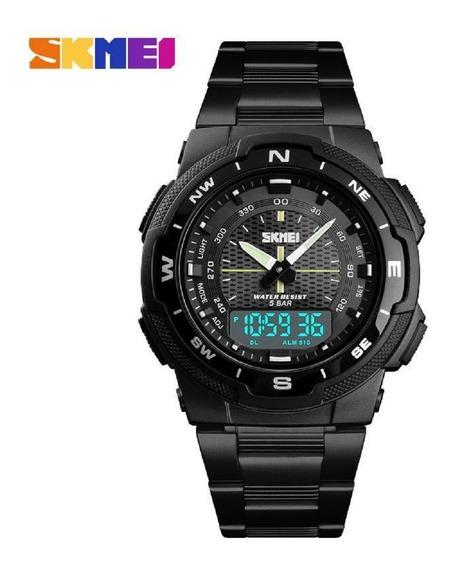 Relógio Skmei 1370 Calendário Completo Esportivo 50 Mt Preto
