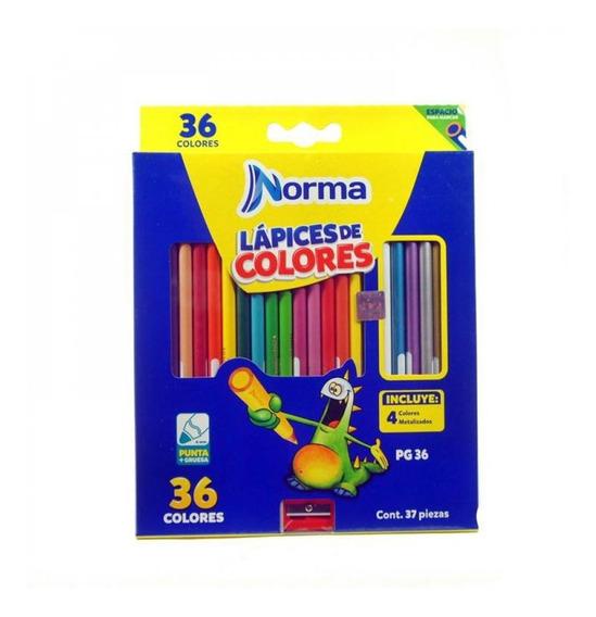 Colores Norma X 36 Largos 26114
