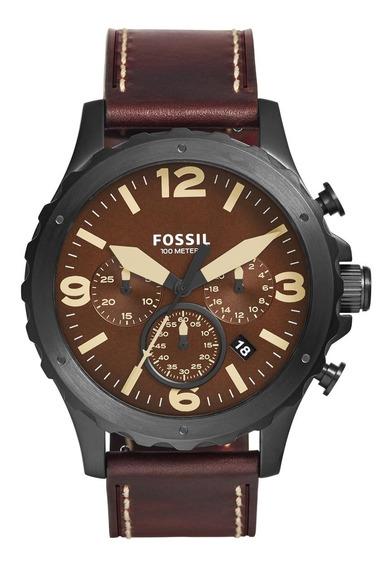Relógio Fossil Masculino Com Pulseira De Couro Jr1502/0mn