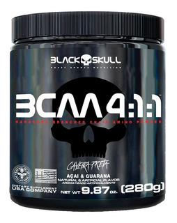 Bcaa 4:1:1 280g - Black Skull Caveira Preta - Lançamento