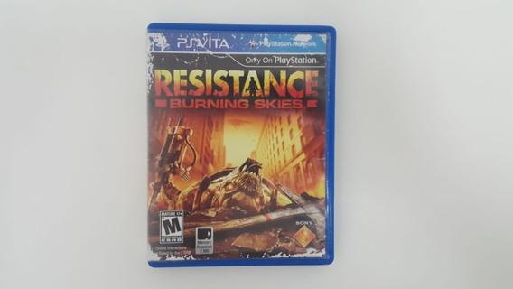 Jogo Resistance Burning Skies - Ps Vita - Original
