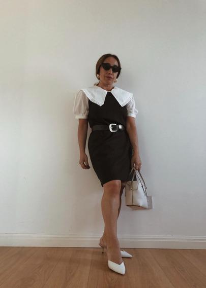 Vestido Clásico Jacky Lino Negro