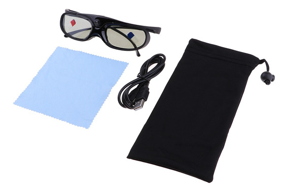 Óculos Ativos Dlp-link 3d 96-144hz Compatibe Para Projetor