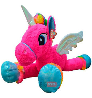 Peluche Unicornio Gigante Con Alas 85cm Nuevo 7862 Bigshop