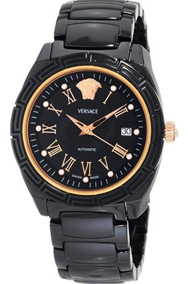 Relógio Automático Masculino Versace Banhado A Ouro