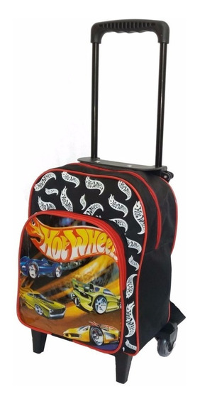 Mochilas Infantil Personagem Hot Wheels Pequena Escolar P