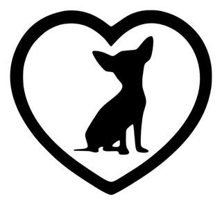 Vinilo Decorativo Perrito Chihuahua, Corazón