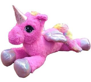 Unicornio Pony Alado Peluche Mágico Gigante Con Luces Nuevo