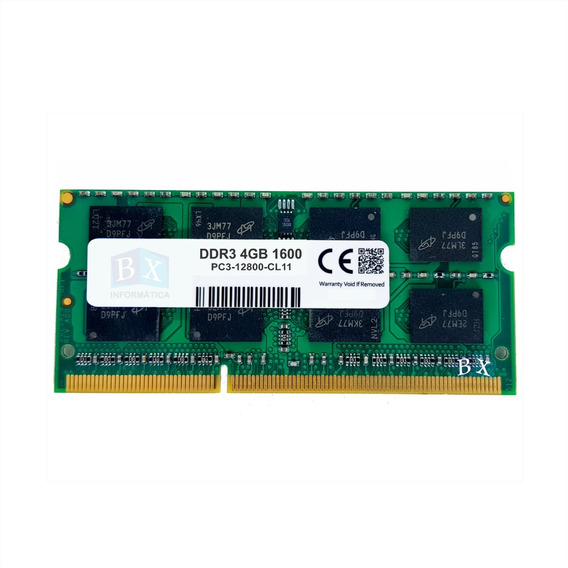 Memória 4gb 12800s 1600mhz Notebook 2rx8 Pc3 Macbook Nfe