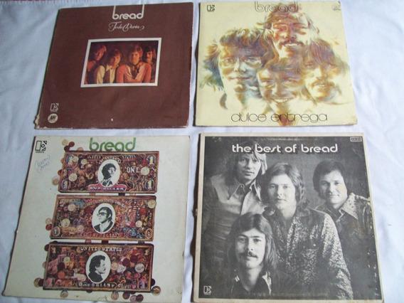 Lote De 4 Discos De Vinilo De *bread* Long Plays Argentinos