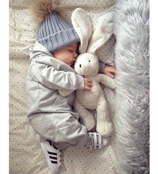 Gorro Pom Pom Touca Bebe Toquinha Crochê Inverno