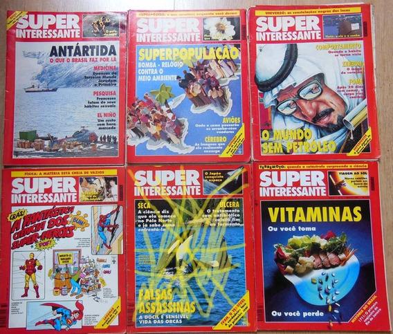 Lote 6 Revistas Super Interessante 66 68 69 72 90 106