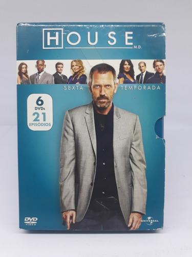 House Sexta Temporada Completa Com 6 Dvd's 21 Episódios
