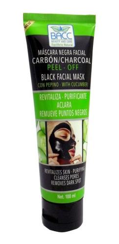 Mascara Facial Bacc Negra Carbon Pepino - mL a $190