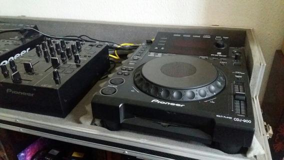 Par Cdj900 Pionner + Mixer Djm 350 + Case