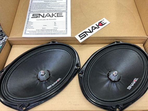 Alto Falantes Woofer Snake Pro - Black 6x9 Esv 220w Rms