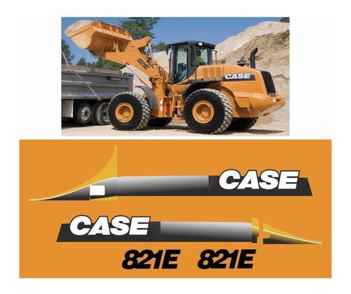 Kit Adesivo Pá Carregadeira Case 821e Completo +etiquetas Mk