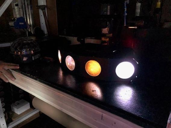 Iluminação Profissional Com Leds 4 Cabeças