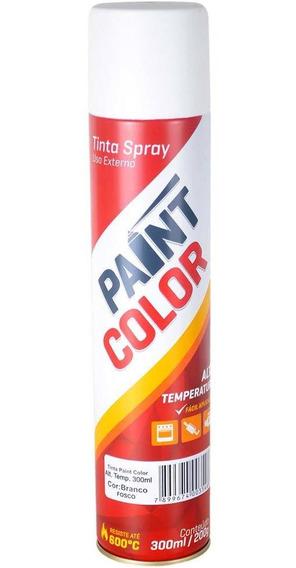 Tinta Spray Alta Temperatura Preto Fosco Carro 600ºc Tpk
