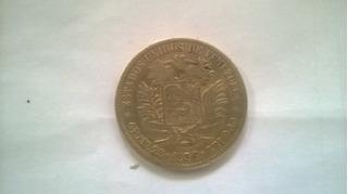 Moneda Fuerte 5bs De Plata 1936 Estados Unidos De Venezuela