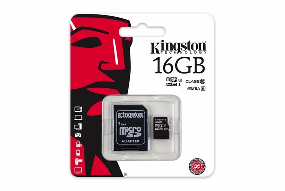 Cartao De Memoria Classe 10 Kingston Sdc10g2/16gb Micro Sdhc