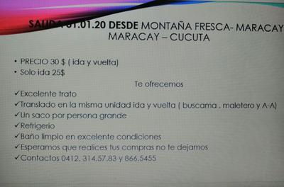 Excursión Desde Maracay - Cucuta