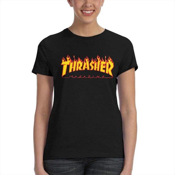 Remera Thrasher T-shirt Woman Skate Mag 5104-a-20 Mujer 5104