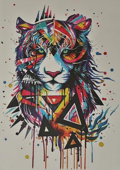 Tatuagem Temporaria - Perfeita - Realista Lion