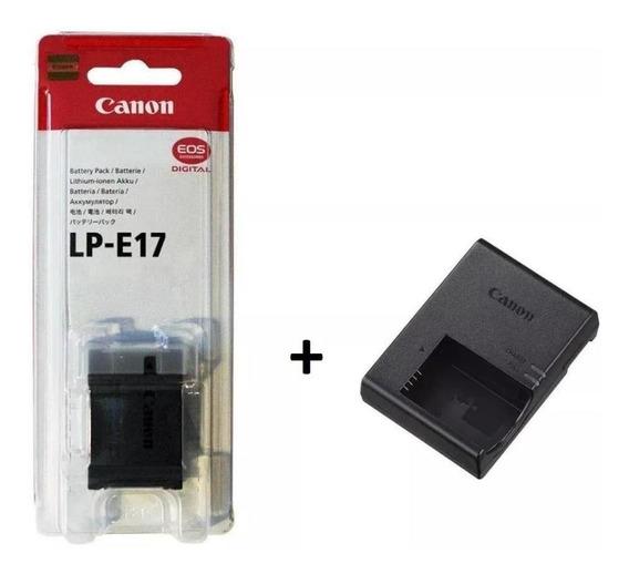 Kit Bateria + Carregador Lp-e17 Paralelo