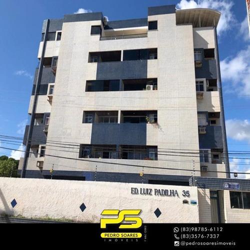 (oportunidade)  Apartamento Com 3 Dormitórios À Venda, 105 M² Por R$ 280.000 - Intermares - Cabedelo/pb - Ap4359