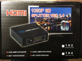 Divisor Splitter Hub Hdmi 1x2 Distribuidor Ps3 Xbox 2 Tv