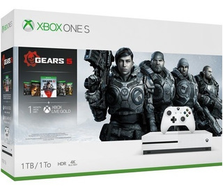 Consola Xbox One S Gers 5 1tb Hdr 4k Blanco