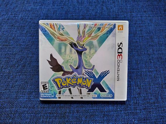 Jogo 3ds 2ds Pokemon X Completo Original Americano