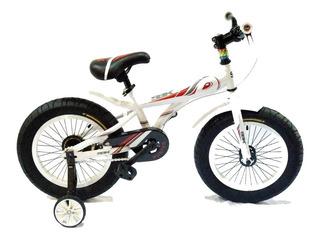 Bicicleta Rodado 16 Sbk Fat Bike Niños Sirena Luces Patona