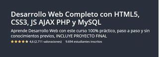 Curso De Desarrollo Web Completo Html5, Css3 Js Php