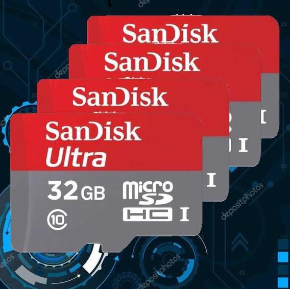 Cartão De Memória 32gb Classe 10 Sandisk Original Micro Sd