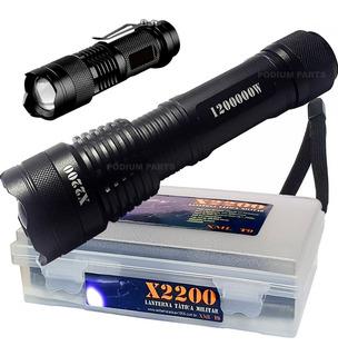 Lanterna Tática Led Cree Xml T9 Original + Mini Lanterna