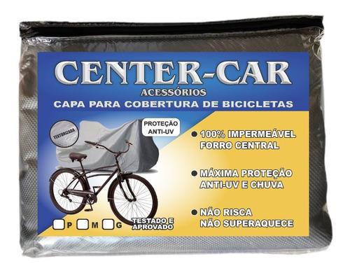 Imagem 1 de 4 de Capa P/ Cobrir Bicicleta Forrada Impermeável Aro 24/26/29