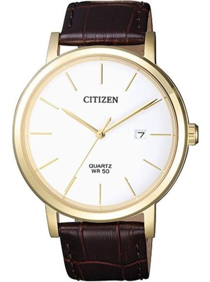 Relógio Masculino Social Citizen Pulseira Couro Tz20699b