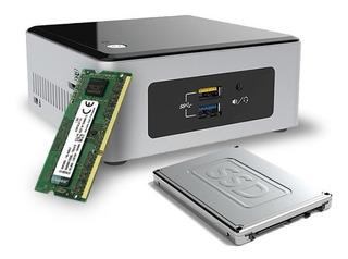 Mini Pc Intel Nuc Celeron J3455 Ssd 120gb 8gb Wifi Vesa M1