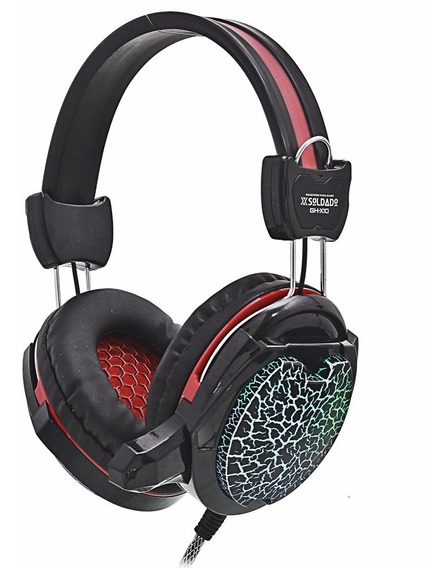 Fone Headset Gamer Led Usb Microfone Fone P2 Ghx10 Barato