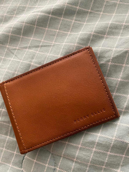 Billetera Para Caballeros Perry Ellis Portofolio Marron