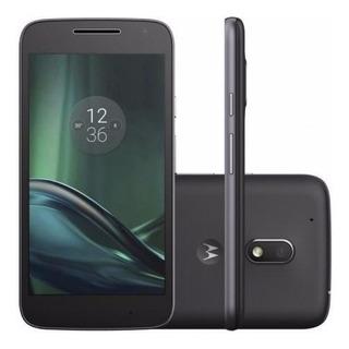 Celular Moto G4 Xt1604 16gb 2 Chips Preto Original + Brinde