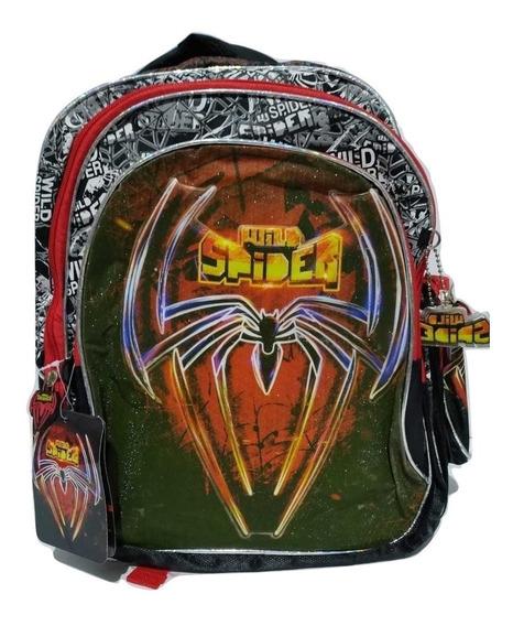 Mochila Infantil Spider Homem Aranha 38 Cm Wild