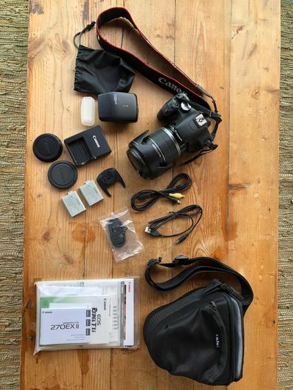 Câmera Canon Eos Rebel T1i - Lente + Flash + Capa + Acessor