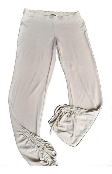 Pantalón Babucha Ayres M Beige Jersey Muy Buen Calce