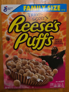 Travis Scotts Reeses Puffs Cereal Edición Especial 586g