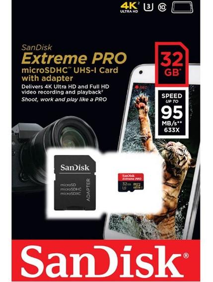 Cartão Memória Micro Sdhc 32gb Sandisk Extreme Pro