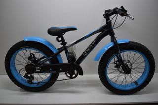 Bicicleta Fat Bike Sbk Rodado 20 7 Vel Frenos A Discos